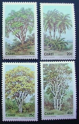 1984 CISKEI: TREES 2nd SERIES: SET OF 4 MNH STAMPS: