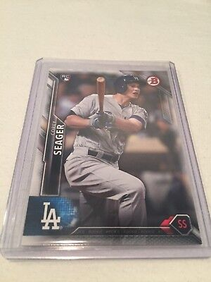 2016 Bowman Baseball Corey Seager Los Angeles Dodgers rookie card #150