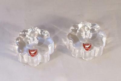 "Orrefors Crystal Small Candle Holder for  ½"" candle Signed Made In Sweden"