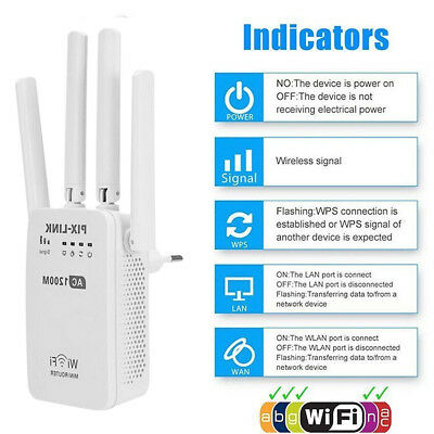 Wifi 1200M routeur WiFi repeteur amplificateur sans fil Wireless Signal Booster
