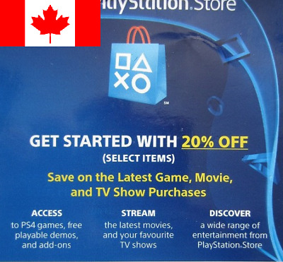 20% Off PSN Store Discount Code PlayStation 4 PS4 (Canada Only) Expires 6/30/19
