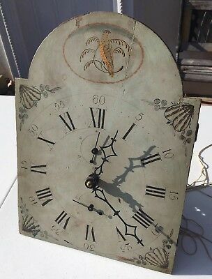 Antique American Wooden Works Grandfather Clock Movement For Parts/Restore1800's
