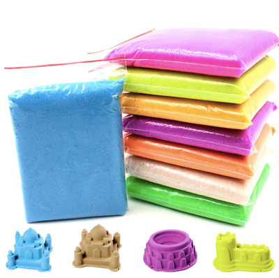 Dynamic Kinetic Soft Magic Sand Educational Colored Clay Indoor Play DIY 100g