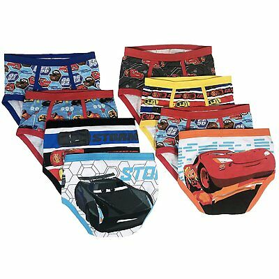 Cars Underwear 7 Pack Mater McQueen Disney Cotton Briefs Boys Toddler 4T NIP