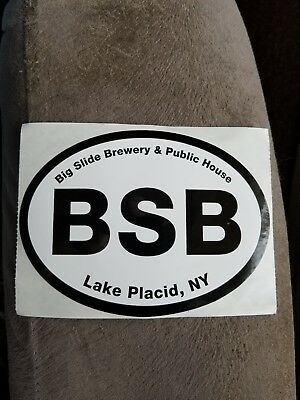 BIG SLIDE BREWERY Lake Placid New York STICKER decal craft beer brewing