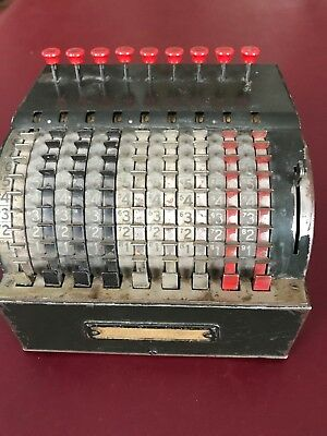 Vintage Adding Counting Machine by Todd Protectograph Company Antique Calculator
