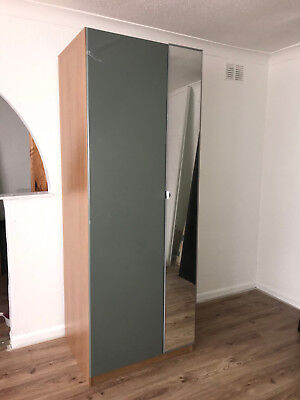 super popular 897d0 801a4 IKEA PAX WARDROBE with High Gloss FARDAL Door and VIKEDAL Mirrored Door 236  * 75