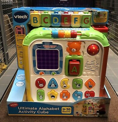 Vtech Ultimate Alphabet Activity Cube With 7 Blocks Works 1499