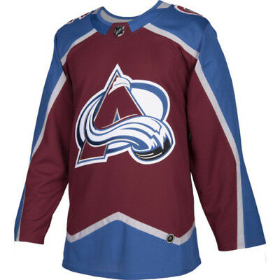 low priced cd2d3 4f1b8 Nathan MacKinnon Colorado Avalanche Adidas Home NHL Hockey Jersey Size 54
