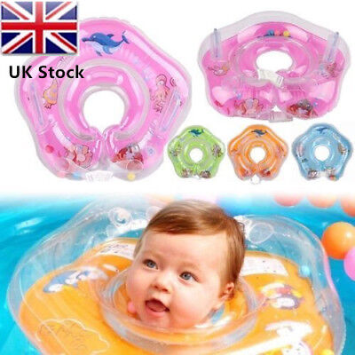 Newborn Baby Swimming Ring Inflatable Circle Infant Neck Float Safety Bath Pool