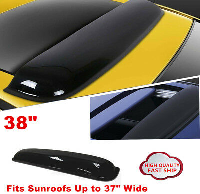 "38/"" INCH SUNROOF//MOON//SUN ROOF WINDOW VISOR SHADE//VENT WIND//RAIN DEFLECTOR BLACK"