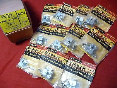Ferum Residential Hardware CD275 11 Double Roller Catches Zinc Plated and Screws