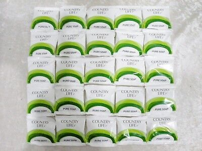Country Life 25x individually wrapped 15g Soaps - ideal for hotel, motel, B & B