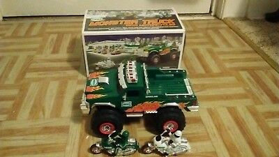 2007 Hess Monster Truck 2 Motorcycles Gasoline Toy With Box