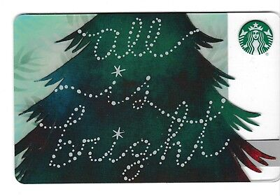 Starbucks collectible gift card no value mint #154 All is Bright