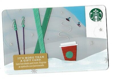 Starbucks collectible gift card no value mint #176 Ski on the Mountain