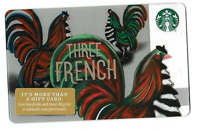 Starbucks collectible gift card no value mint #175 Three French