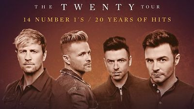 2 x WESTLIFE TICKETS ✹FRONT FLOOR SEATS✹ THE O2 LONDON SATURDAY 15TH JUNE