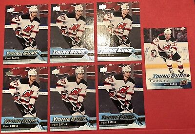 16-17 PAVEL ZACHA Amazing 7 Card Lot! Upper Deck Young Guns/Canvas RC Invest Now