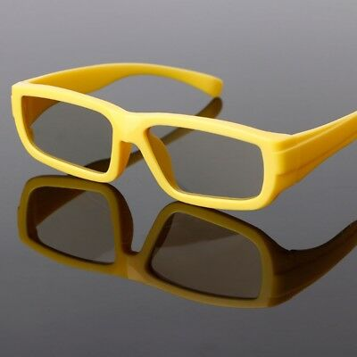 Yellow Kids Circular Polarized Passive 3D Glasses For Real D TV Cinema Movie Hot