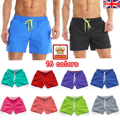 a18745a2883 Mens New Swimming Shorts Quick Dry Trunks Swimwear Beach Summer Boys UK  STOCK