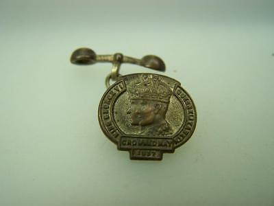 1937 Cronation barbell cuff link King George VI Queen Elizabeth             3483