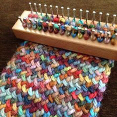 Knitting Loom Board Hook Kit Socks Warmer Craft DIY Weaving Tool + Needle Gift