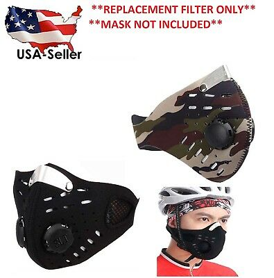(FILTER ONLY)  Face Dust Mask Air Filter Charcoal 5-Stage