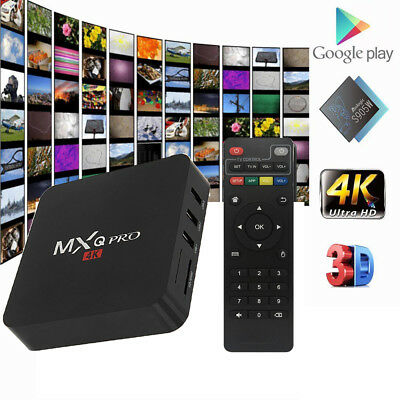 MXQ PRO Android 7.1 Smart TV Box S905W 4K H.265 Quad Core 2G 16G 3D DLNA Player