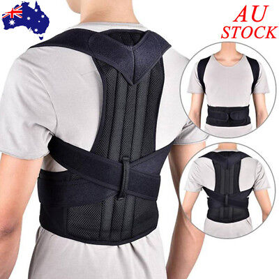 Mens Womens Posture Corrector Back Support Shoulder Strap Brace Humpback Belt