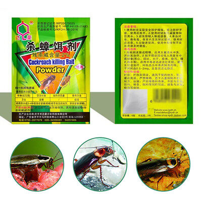 5 Bags Powder Killing Cockroach Bait Insect Pesticide Insecticide Home Bait Pest