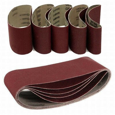 5PC 240~1000Grit Sander 75x457mm Sanding Belt Sander Fine Coarse