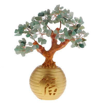 Green Feng Shui Crystal Money Tree Office Home Decor Bring Luck / Wealth