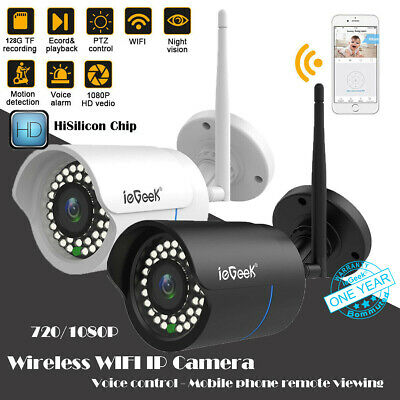 ieGeek 720P/1080P HD Wireless WIFI IP Network Monitoring Camera Night Version UK