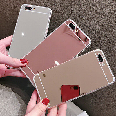Luxury Silicone Mirror Soft TPU Phone Cover Bumper Back Case Skin For Huawei