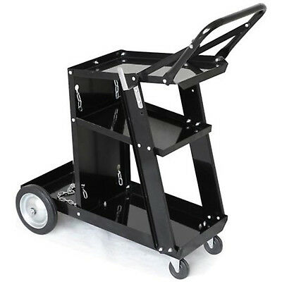 WELDING CART TROLLEY Universal Storage for Tanks & Accessories Wheeled Iron Shel