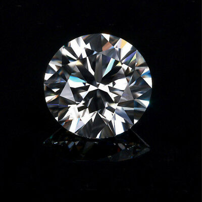 0.78cts 6mm Round Shap  Loose Moissanite White Diamond VS2 G Color Clarity  Box
