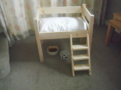 Cutest Wooden/pine High Single Bed For Your Cat Or Small Dog