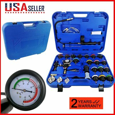 28PCS Radiator Pressure Tester Kit Coolant Vacuum Cooling System with Adapters U