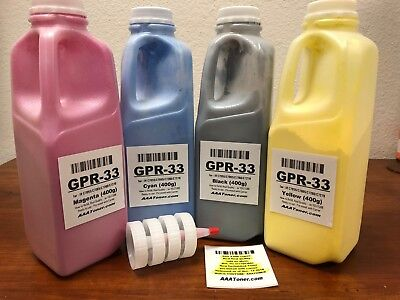 (400g x 4) GPR-33 Toner Carrier mixed Refill for Canon C7055 C7065 C7260 C7270