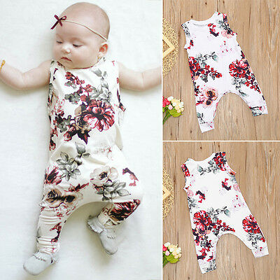 Summer Baby Girls Kids sleeveless Romper Jumpsuit Toddler Clothes Outfits AU BW