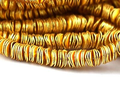 1 Strand 24k Gold Plated Attractive Copper Casting Beads Woman Fashion Jewelry