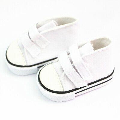 White Lovely Doll Sneaker Flats Shoes for 18 inch American Girl Doll Dolls