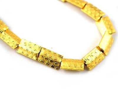 1 Strand 24k Gold Plated Shine Attractive Design Copper Casting Beads Jewelry