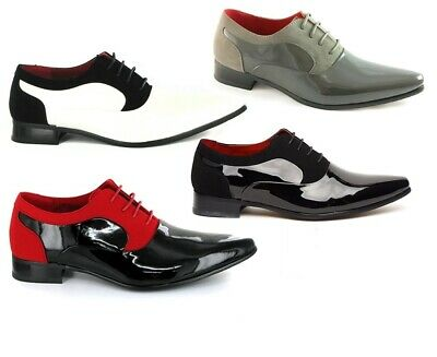 9ec2e933bac8 Mens Black And Red Armando Leather Lined Patent Formal Shoes for wedding  party