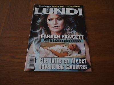 FARRAH Fawcett Charlies Angels LE LUNDI 2009 Canada Magazine Hard To Find