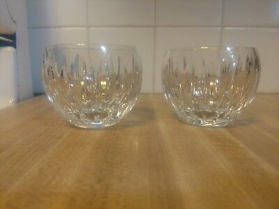 """Waterford Nocturne Crystal Votive Candle Holders 2.5"""" Tall ~set of 2~"""
