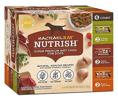 Rachael Ray Nutrish Natural Wet Dog Food 8 oz (Pack of 6) Variety Pack