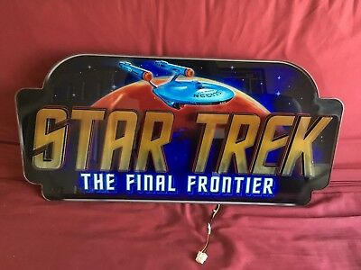 Star Trek The Final Frontier Slot Machine Pinball Machine Topper Lighted Sign