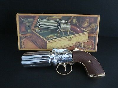 "Vintage Avon Canada ""pepperbox Pistol 1850""    Decanter Bottle W/box  -Empty"
